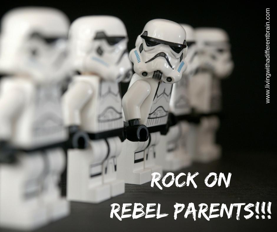 Rock on Rebel Parents different brain autism